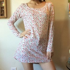 Sundance Roses & Shell Buttons Soft PJ Tunic